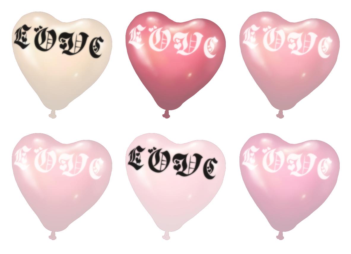 各种萌萌嗲嗲的心形气球素材
