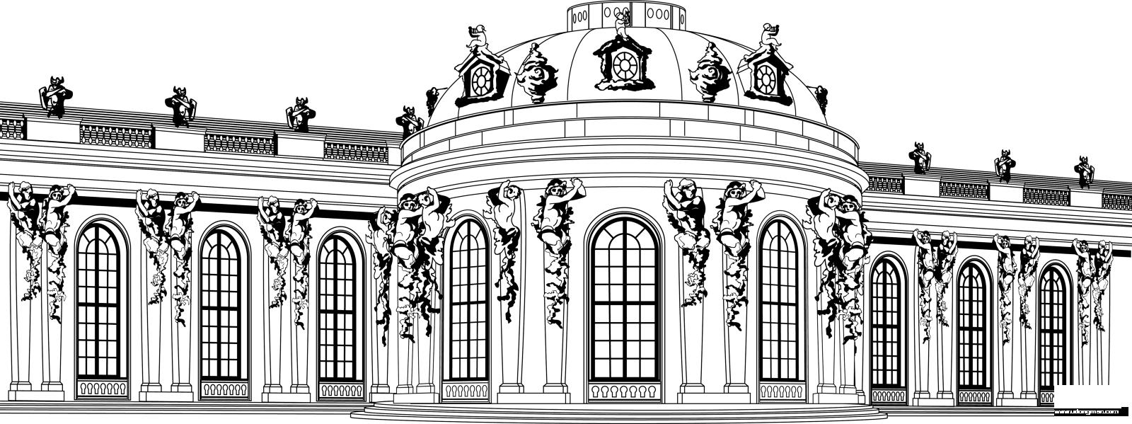 横向建筑展板图片