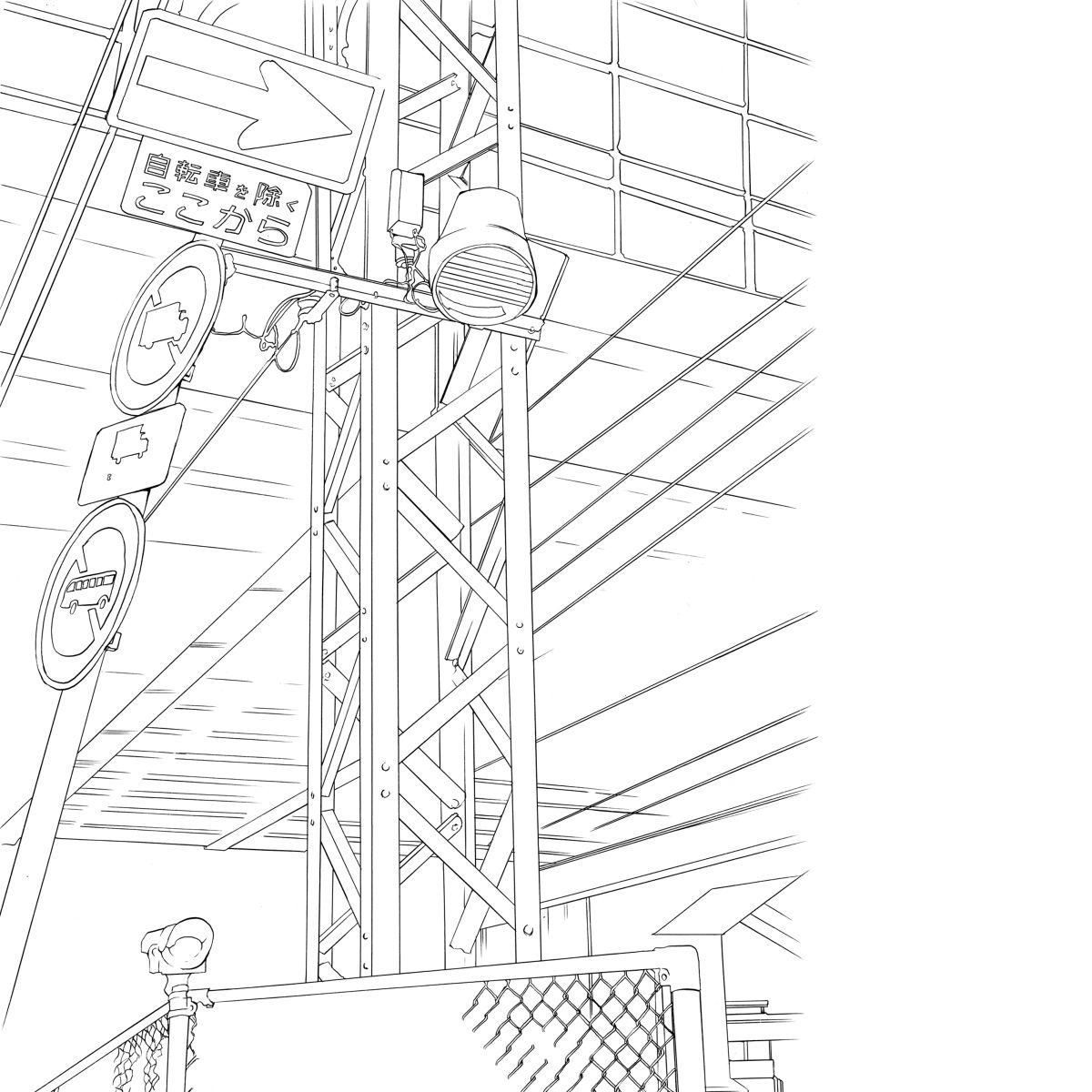 建筑透视图稿素材