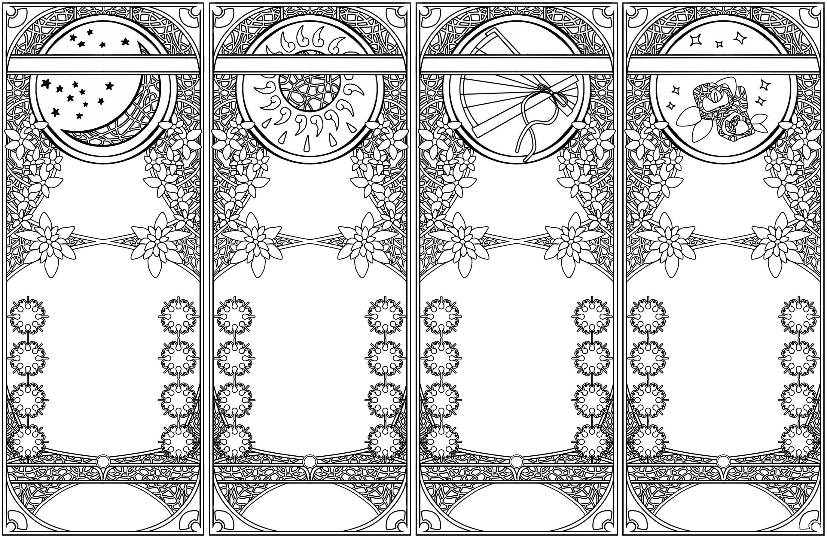 复古正方形边框素材展示
