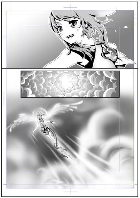 黑白漫画篇 纯色填充99网点纸99渐变填充 - 优