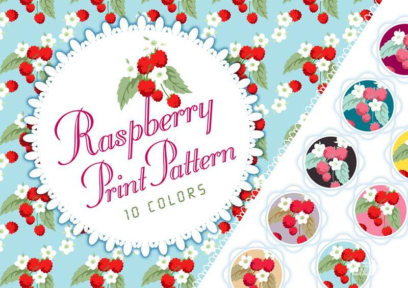 10色小红莓图案素材