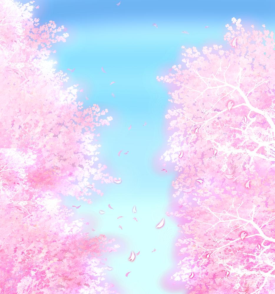 櫻花漫畫背景圖片