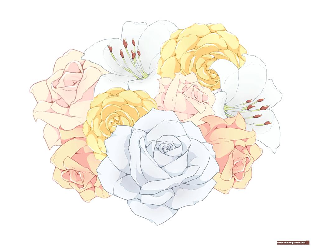 小清新花朵素材 - 优动漫