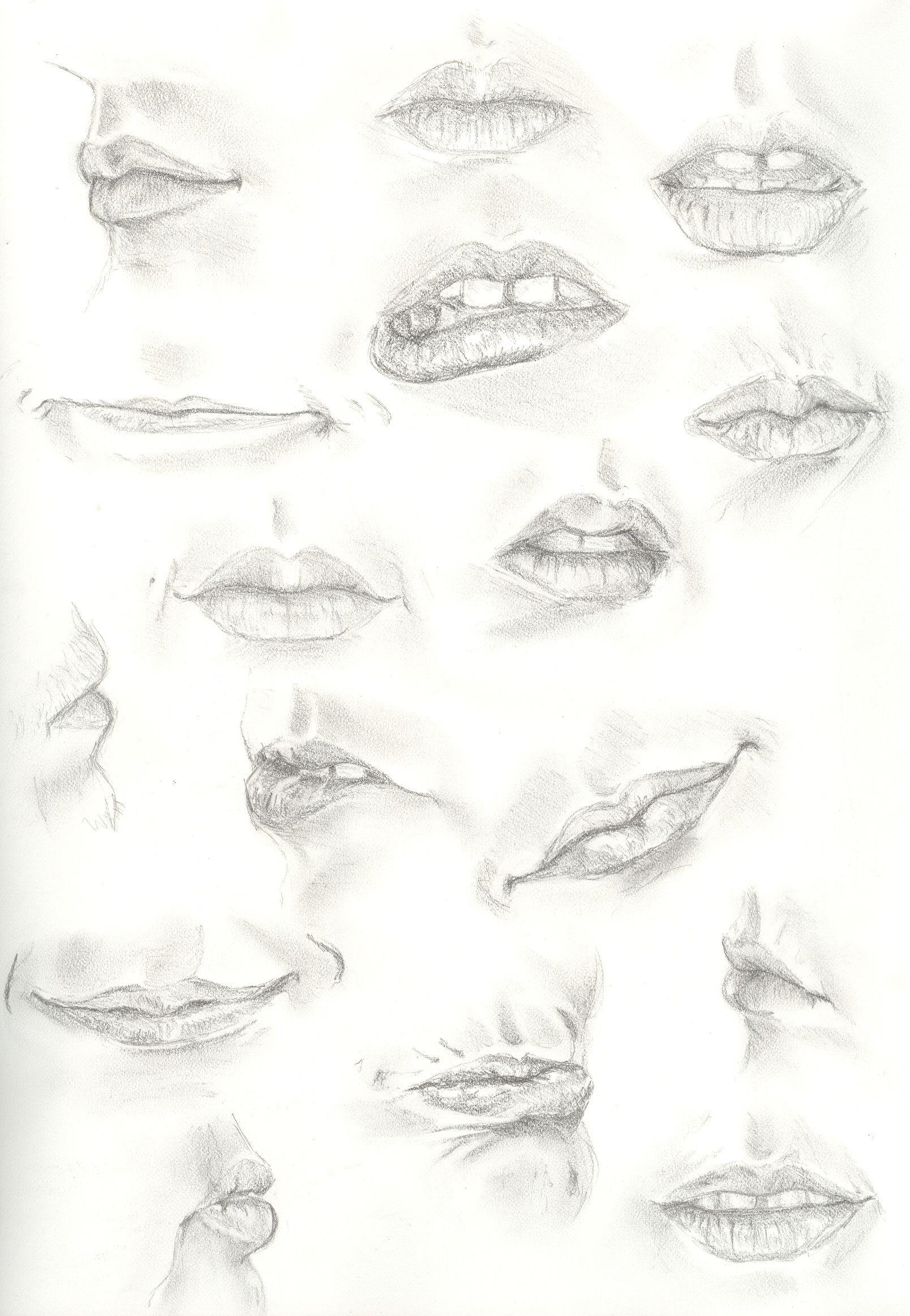 手绘嘴型的画法