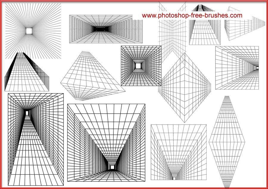 绘画教程 透视网格笔刷