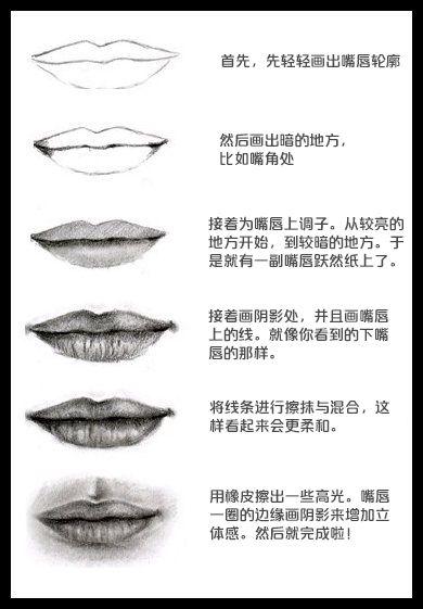 嘴巴的画法步骤