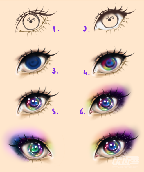 how to draw anime eyes digitally