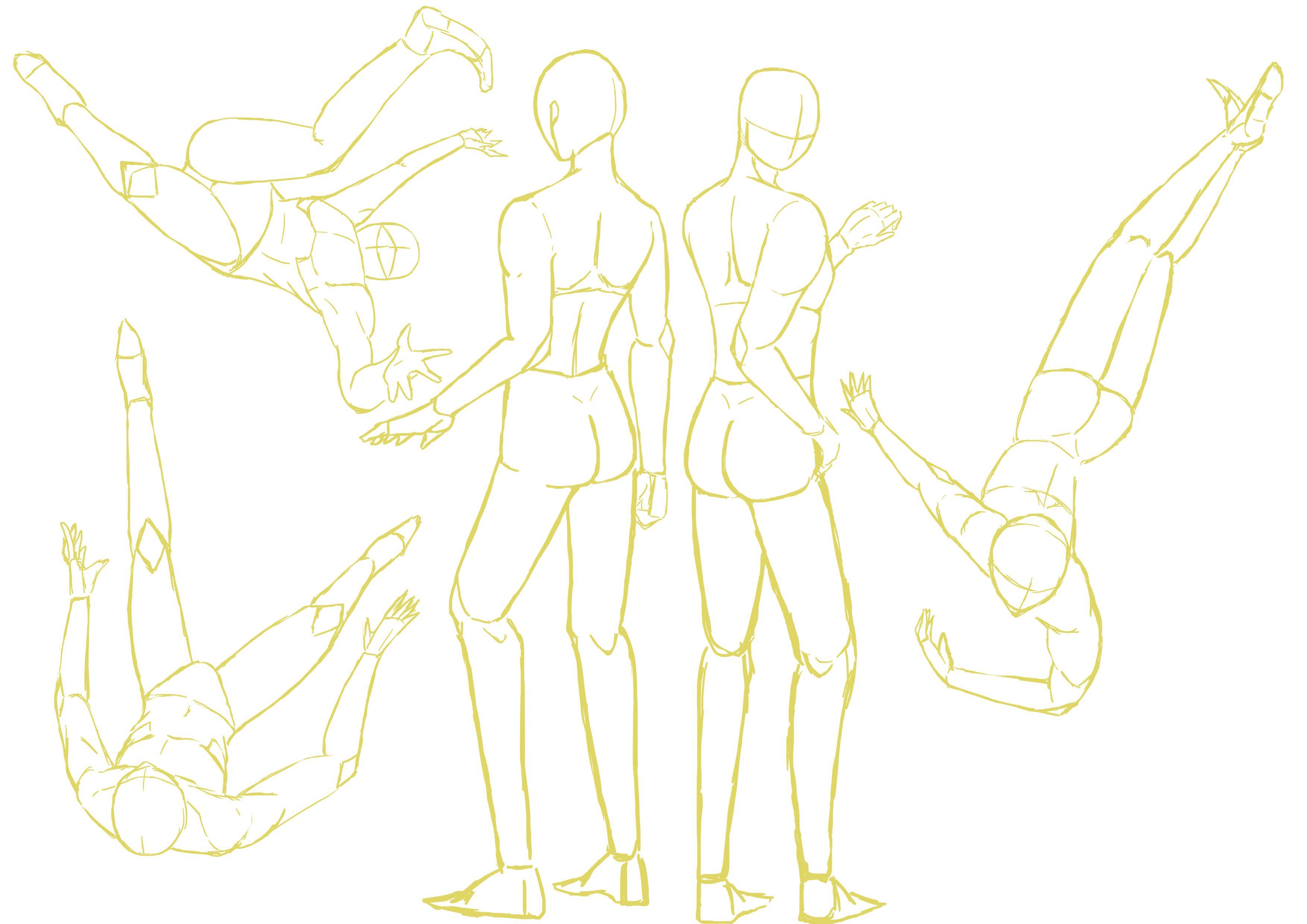 人体动态线稿 - 优动漫 动漫创作支援平台