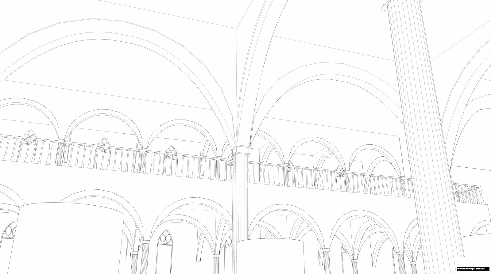 皇宫椅子手绘线稿