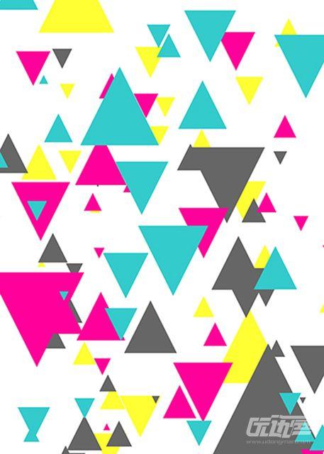 电音几何体背景素材