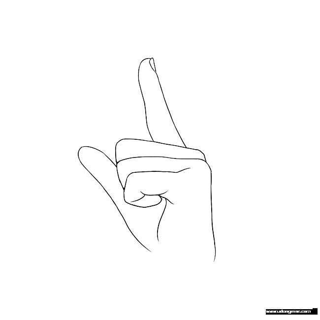 单手手势练习素材 - 优动漫