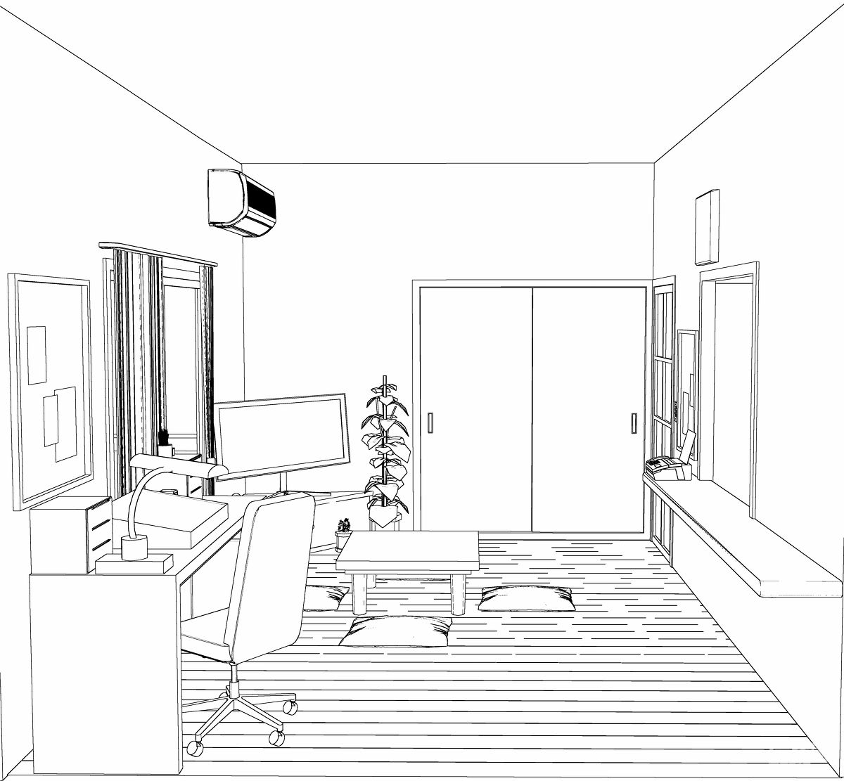 大理石地板房间设计图展示