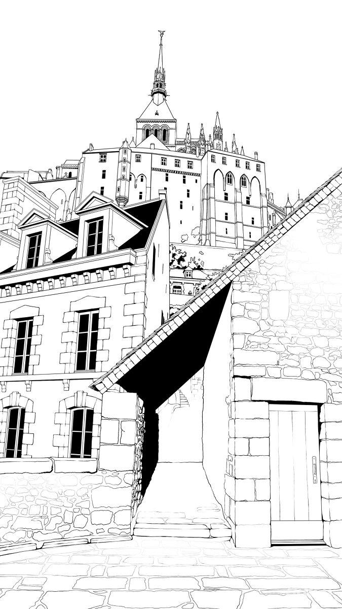 欧式背景线稿素材 - 优动漫