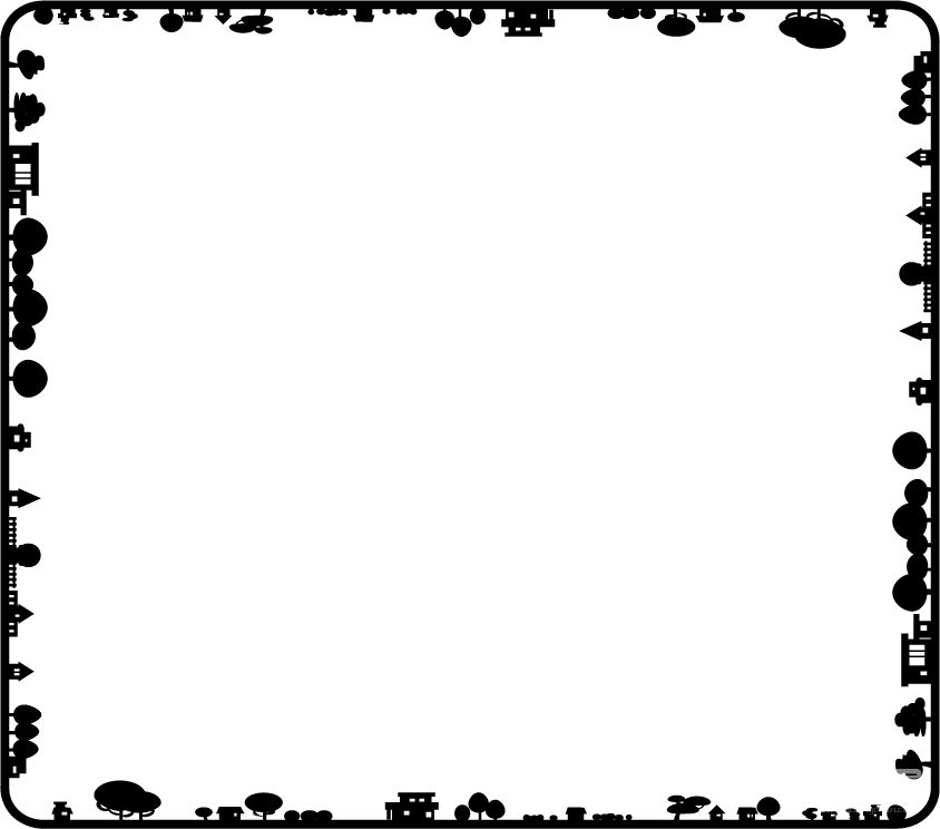 线条边框素材简洁png展示
