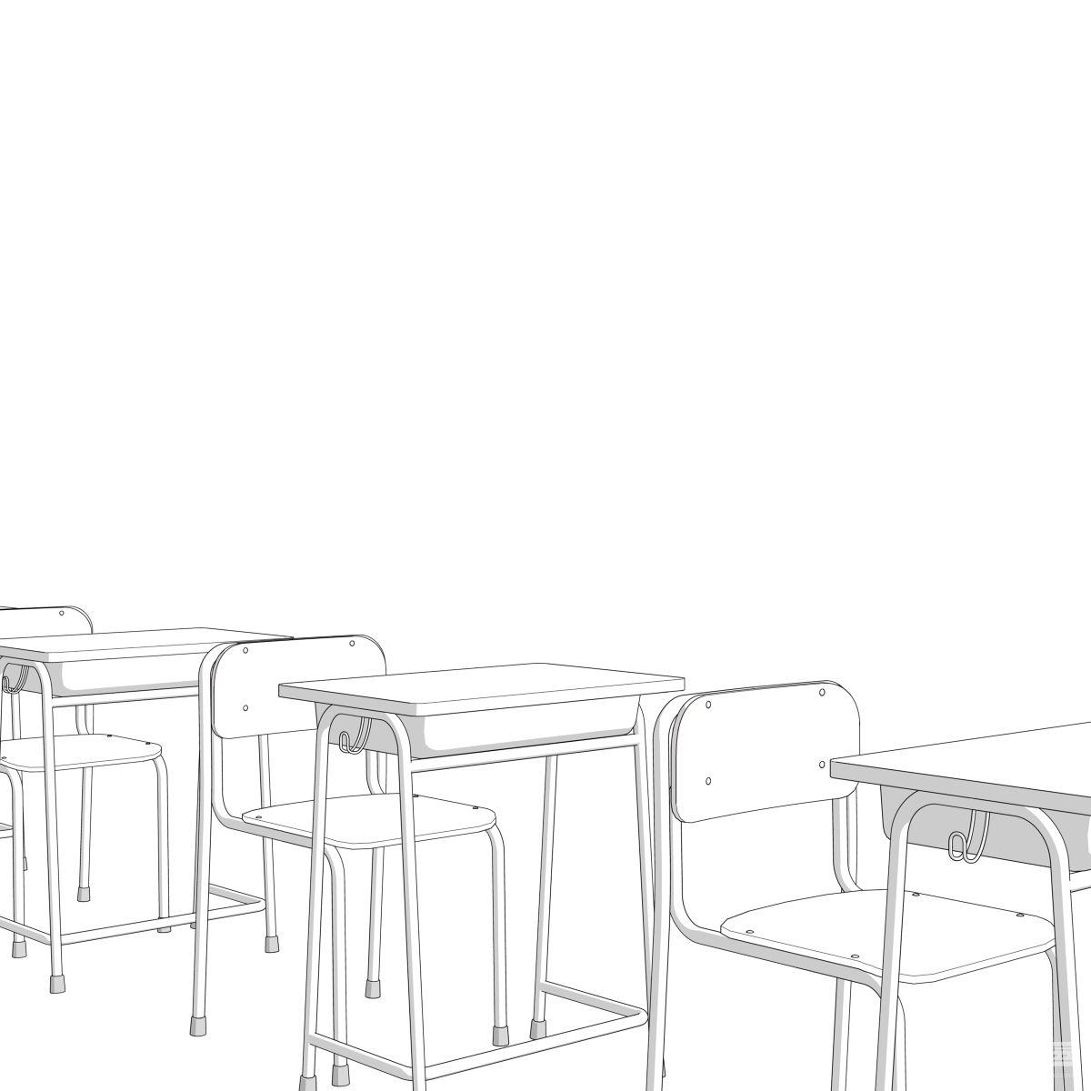 教室背景素材 - 优动漫