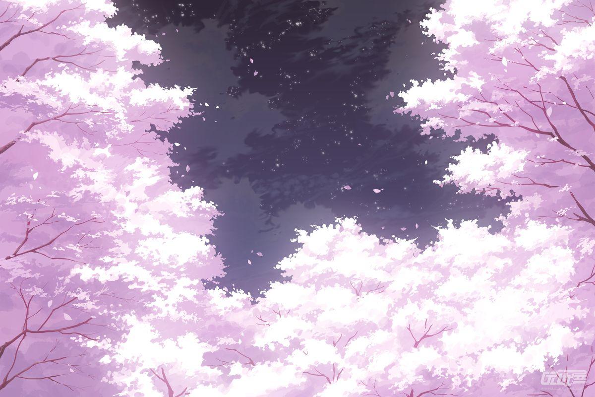 樱花背景素材 - 优动漫