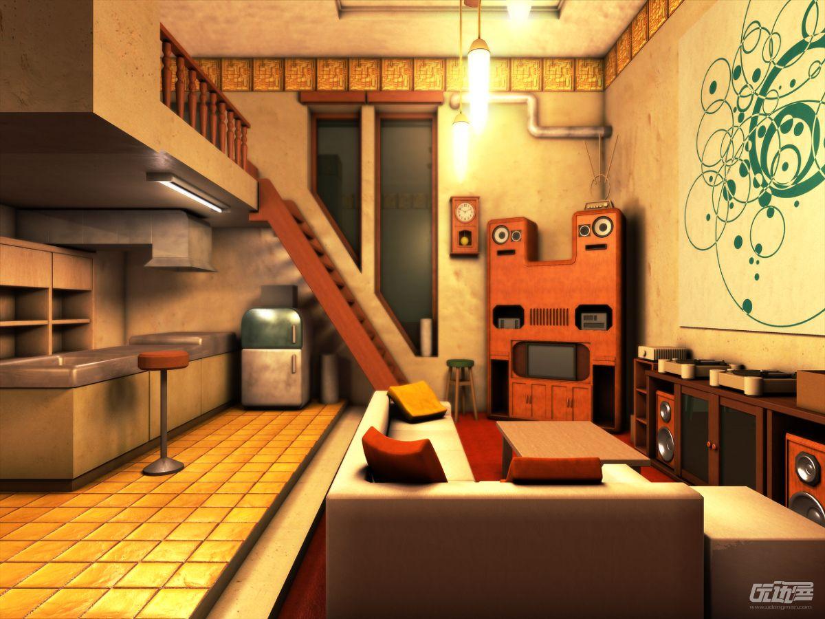 虎彻的房间背景素材 - 优动漫 动漫创作支援平台