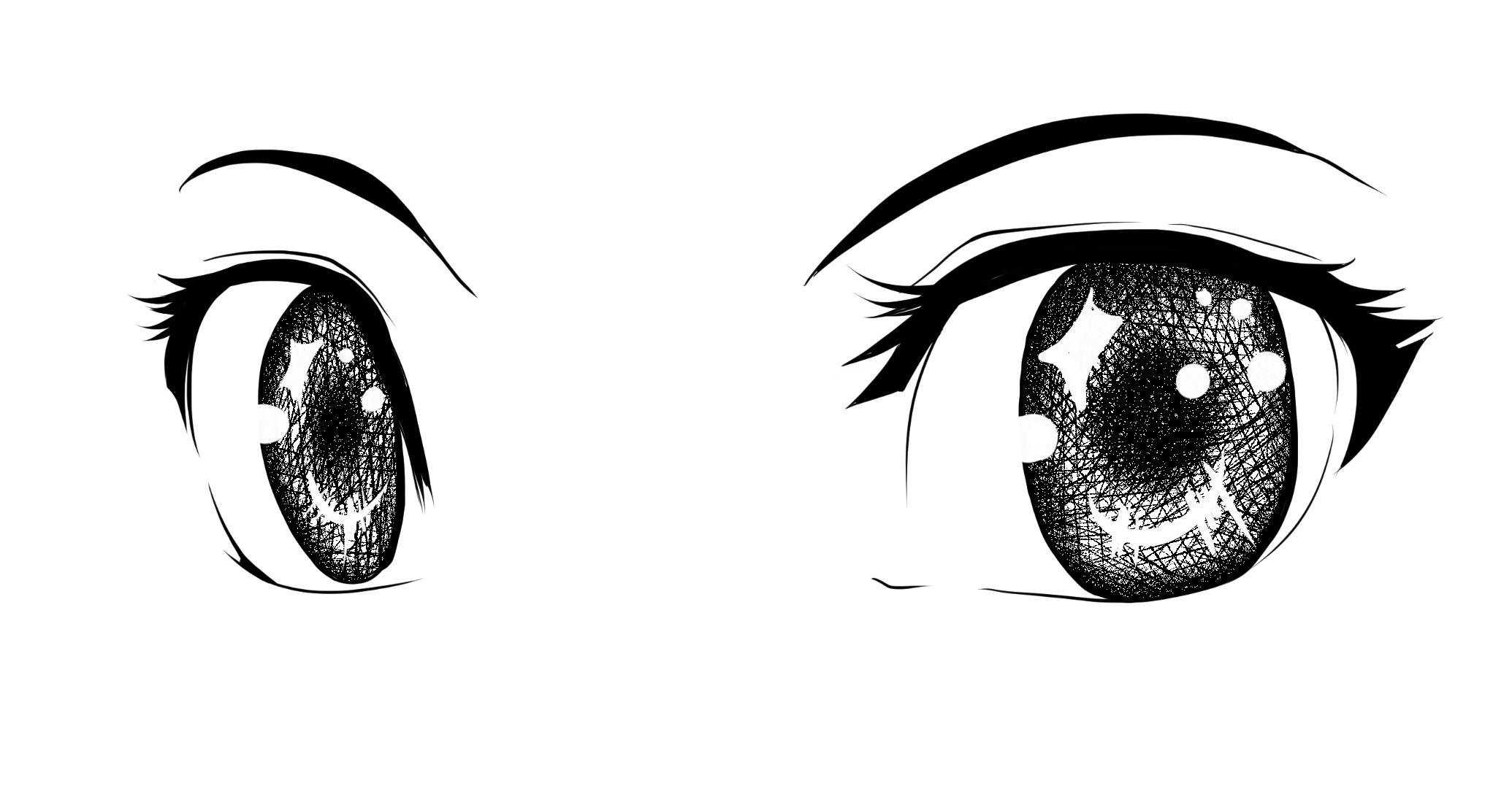 少女眼睛简笔画