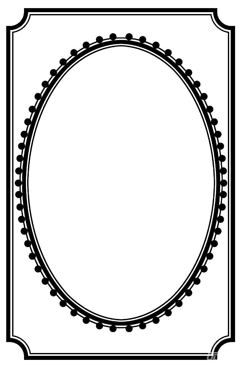 椭圆边框素材 - 优动漫 动漫创作支援平台