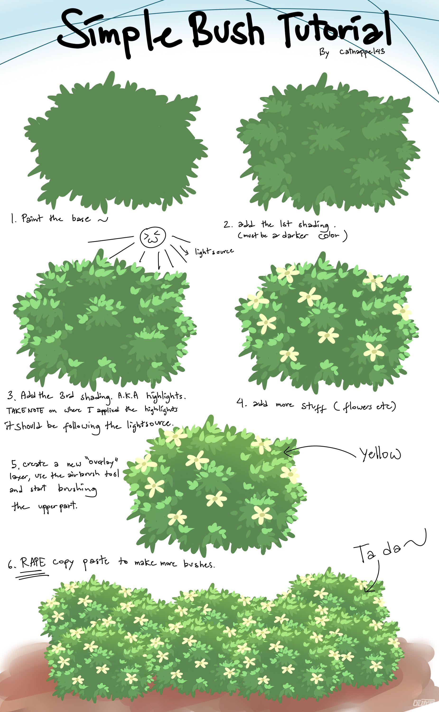 灌木丛画法教程 - 优动漫 动漫创作支援平台