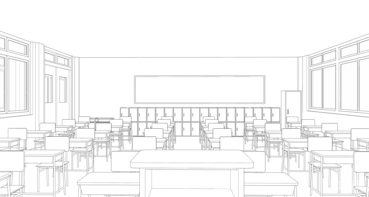 教室图案简笔画