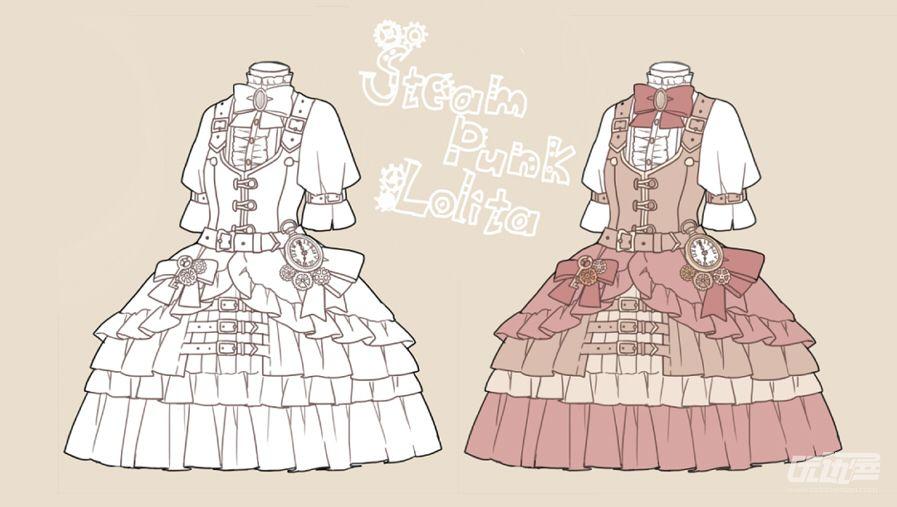 洛丽塔洋装素材 - 优动漫 动漫创作支援平台