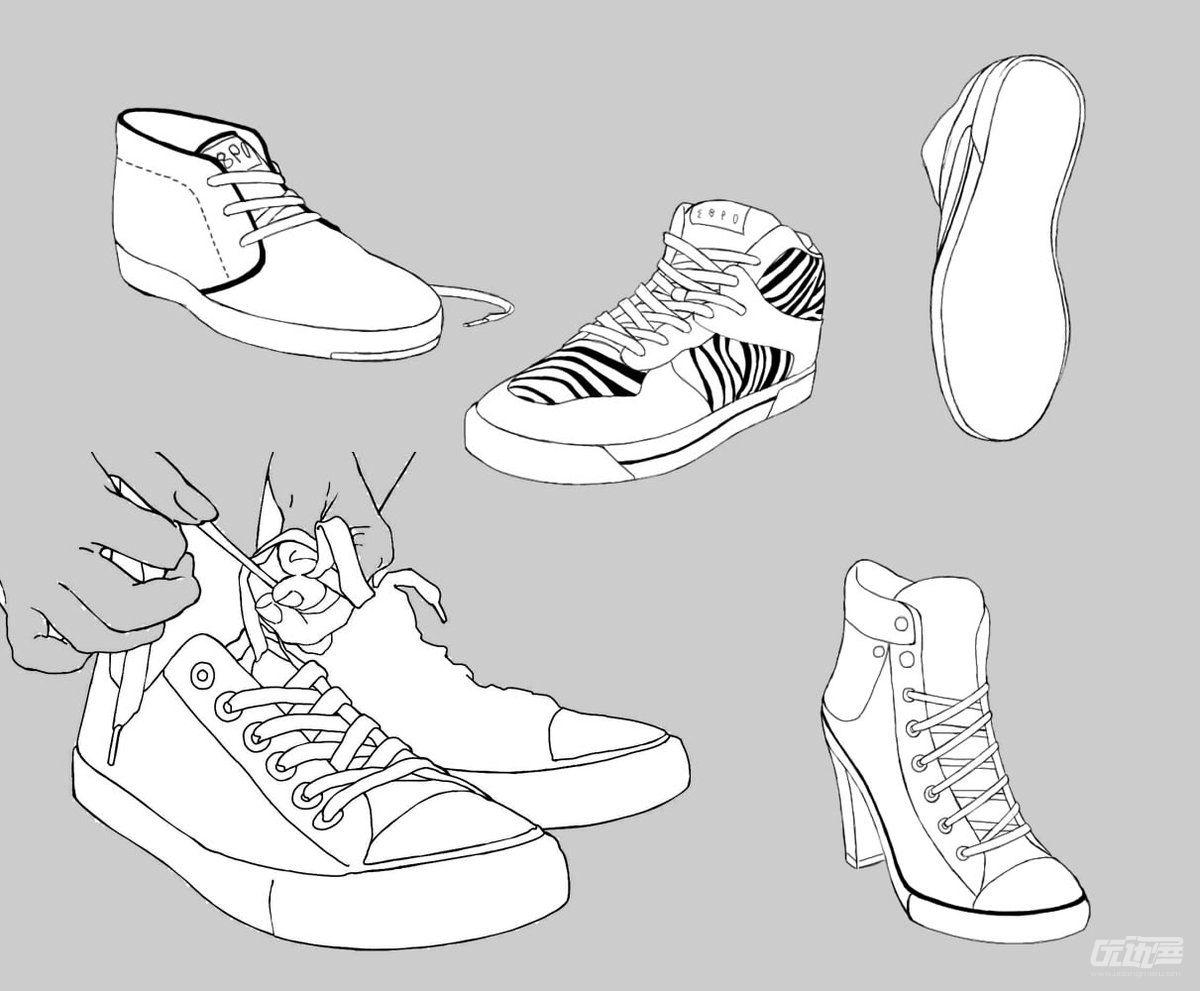 鞋子的画法参考 - 优动漫 动漫创作支援平台