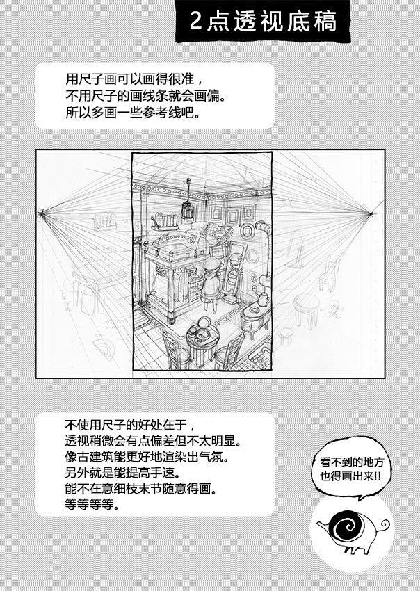 绘画教程 鱼眼透视画法  图源来源于网络/转载请说明出处/版权仍归原