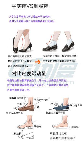 区分平底皮鞋与高跟鞋的画法.jpg