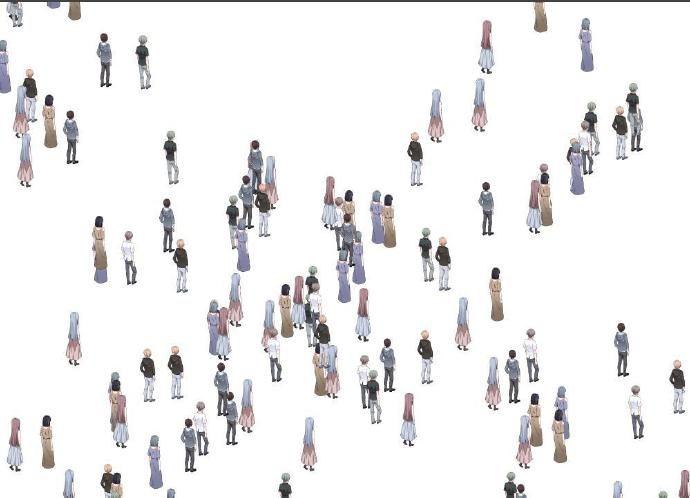素材 人群微俯视背面-上色(by:桦树子)  类型
