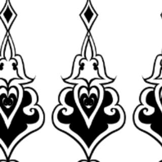 适用:优动漫paint 类型:黑白图像 此为中世纪风格花纹的网点纸素材.