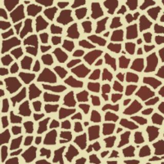 此为长颈鹿外皮花纹图像素材.常用于绘制服饰或小物品的装饰.