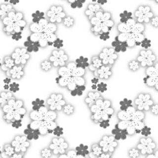 类型:黑白图像 六瓣花主题的图像素材,常用于绘制壁纸或和服.