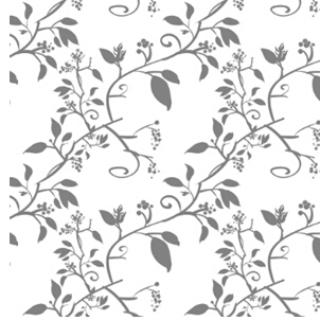 植物剪影图像素材,常用于绘制服饰