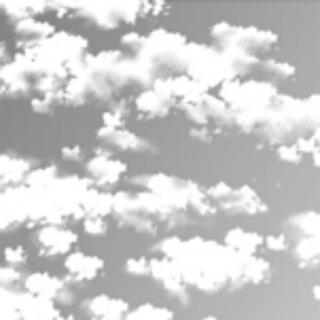 临近黄昏的天空_黑白