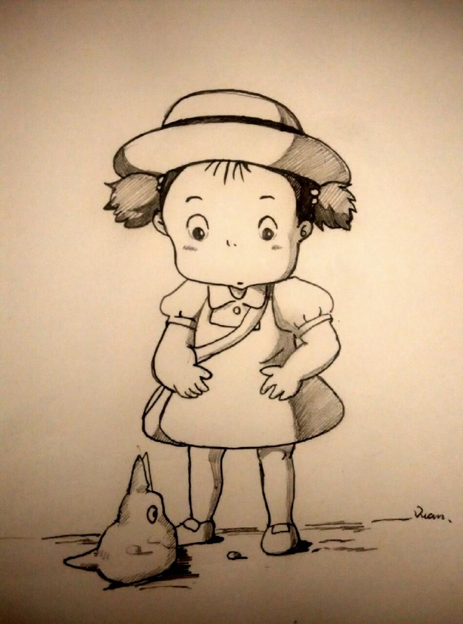 宫崎骏动漫图片简笔画彩图